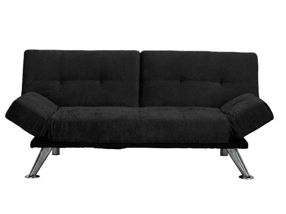 canap clic clac peter 3 places noir 56758. Black Bedroom Furniture Sets. Home Design Ideas