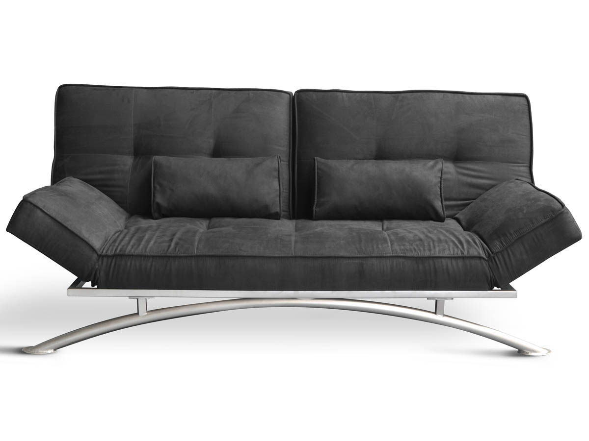 canape clic clac marina 3 places noir 67866 67867. Black Bedroom Furniture Sets. Home Design Ideas