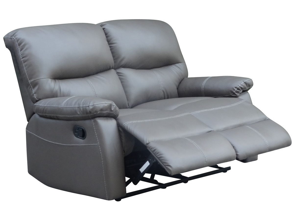 Canape relax lincoln 2 places taupe 83741 - Canape relax 2 places ...