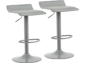 "Lot de 2 tabourets de bar ""Cosmo"" - Gris"