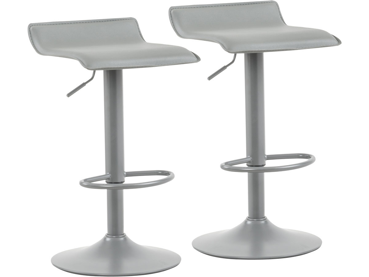 lot de 2 tabourets de bar cosmo gris 85751. Black Bedroom Furniture Sets. Home Design Ideas