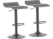 "Lot de 2 tabourets de bar ""Cosmo"" - Noir"