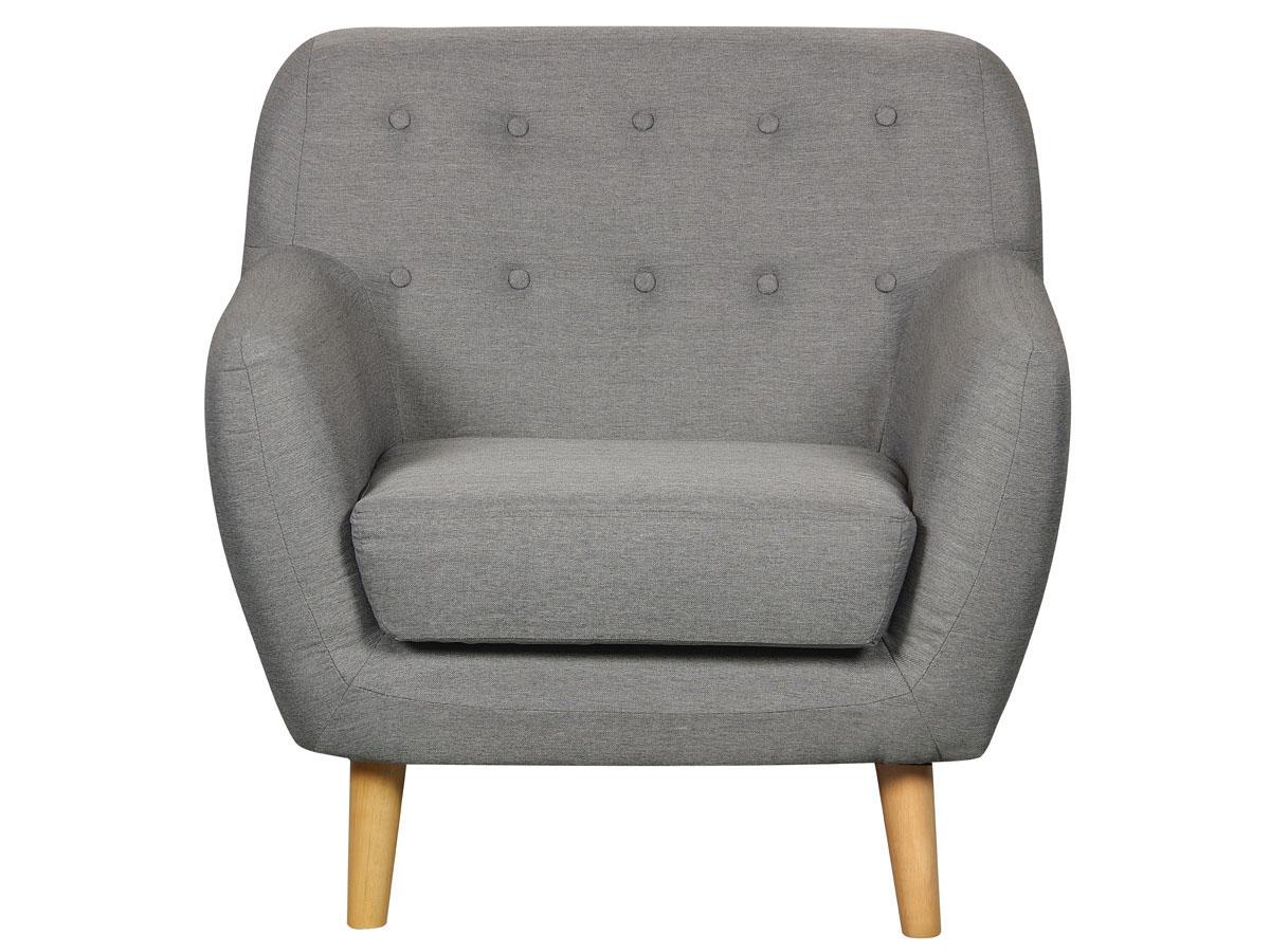 fauteuil tissu cody gris clair 83761 83763. Black Bedroom Furniture Sets. Home Design Ideas
