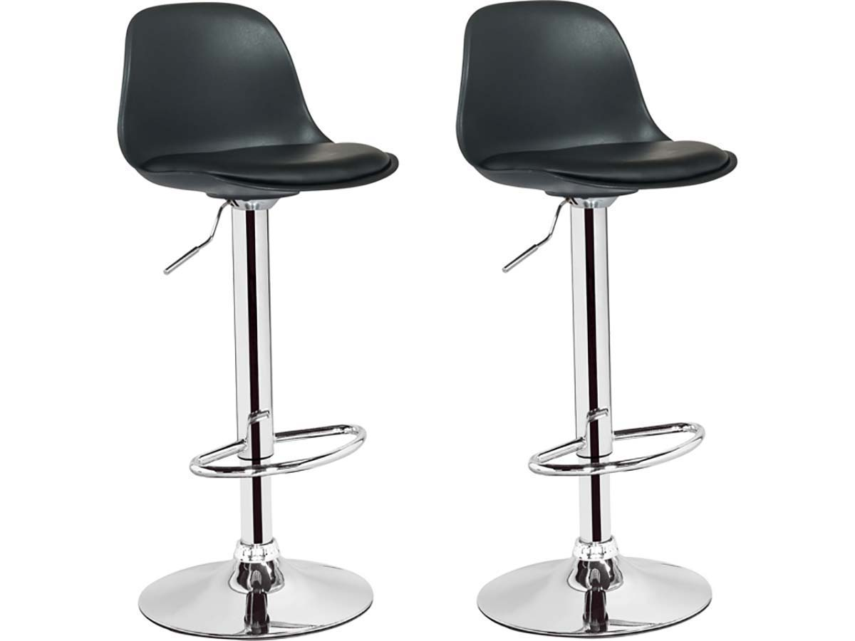 lot de 2 tabourets de bar daiquiri noir 85755. Black Bedroom Furniture Sets. Home Design Ideas