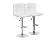 LOT DE 2 TABOURETS DE BAR  MANHATTAN - BLANC