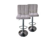 LOT DE 2 TABOURETS DE BAR  MANHATTAN - GRIS