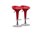 """Lot de 2 tabourets de bar  """"Mint"""" - Rouge"""