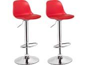 LOT DE 2 TABOURETS DE BAR DAIQUIRI - ROUGE