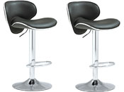 LOT DE 2 TABOURETS DE BAR SUNRISE - GRIS