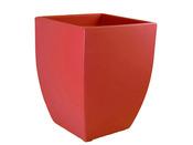 """Pot pour fleurs """"Quadro"""" - Rouge - 38 x 38 x 50 cm"""