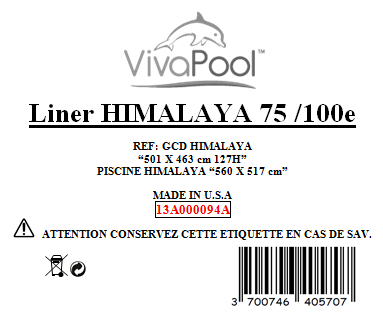 Liner Himalaya bleu 5010x4630 mm