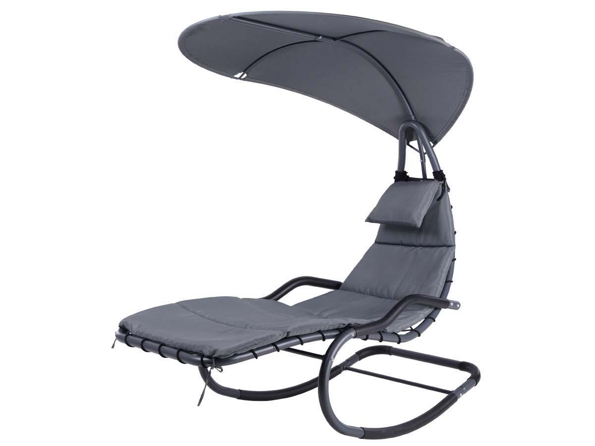 balancelle suspendue monaco gris 86563. Black Bedroom Furniture Sets. Home Design Ideas
