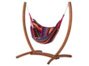 """Hamac chaise avec support bois """"Santiago"""" - Rouge mélangé"""