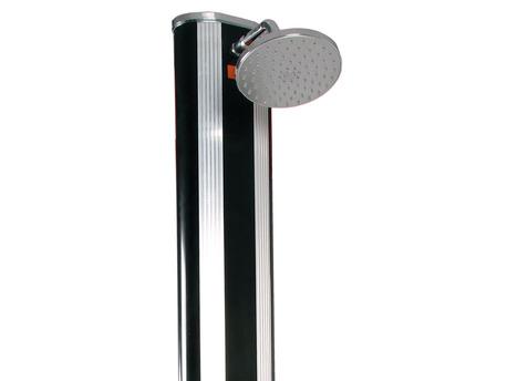 Douche solaire piscine en aluminium et noire rince pieds - 40L