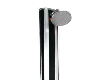 Douche solaire en aluminium avec rince pieds et jet massant - 40L