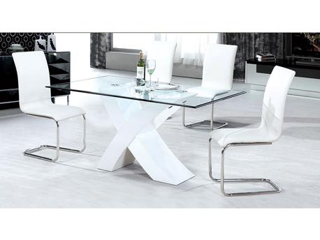 """Table repas """"Mona"""" en verre rectangulaire"""