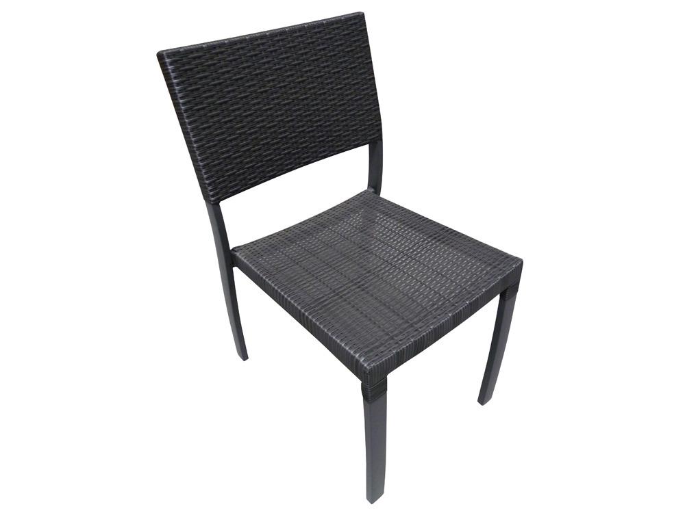 chaise jardin r sine tress e gris anthracite noir 61769. Black Bedroom Furniture Sets. Home Design Ideas