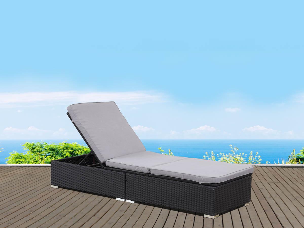 bain de soleil en r sine tress e bali atlanta noir. Black Bedroom Furniture Sets. Home Design Ideas