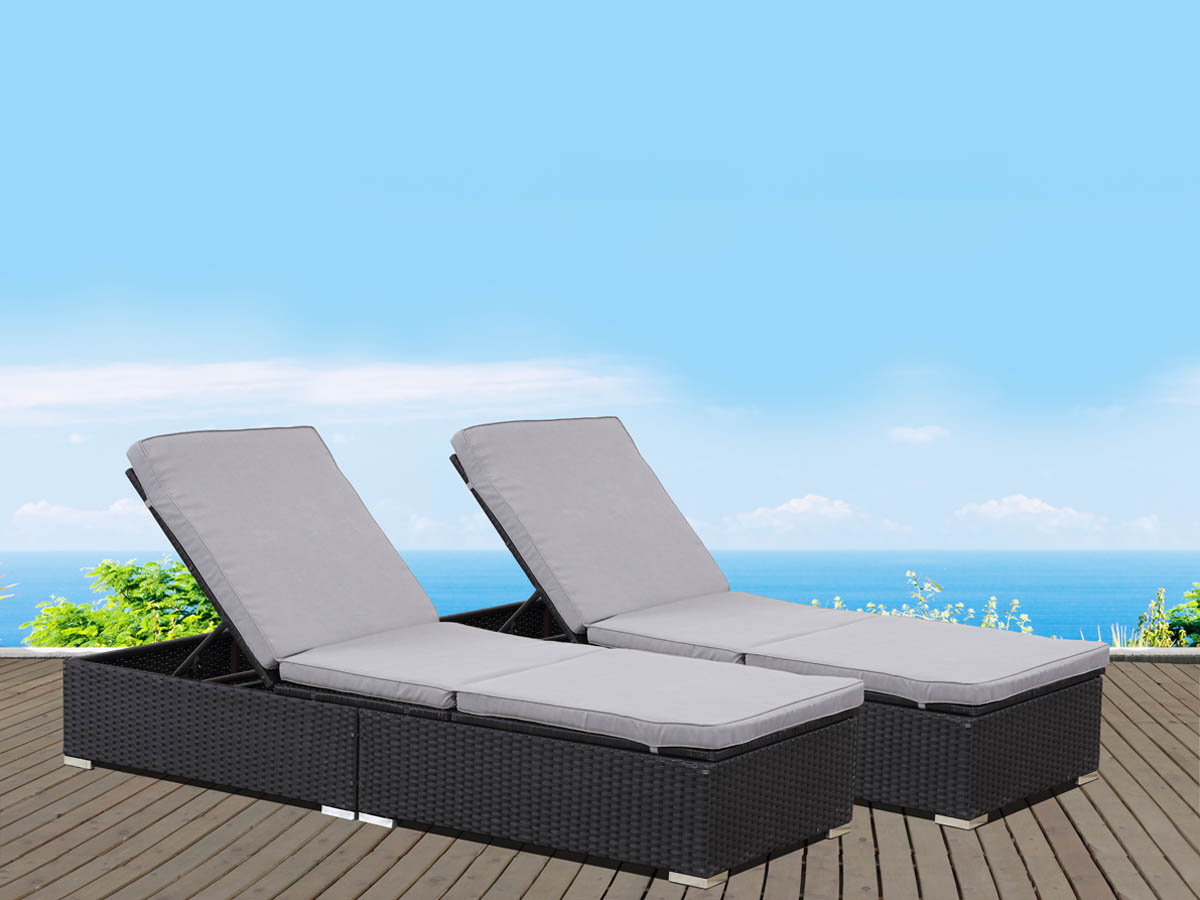 bain de soleil coffre en r sine tress e bali atlanta. Black Bedroom Furniture Sets. Home Design Ideas
