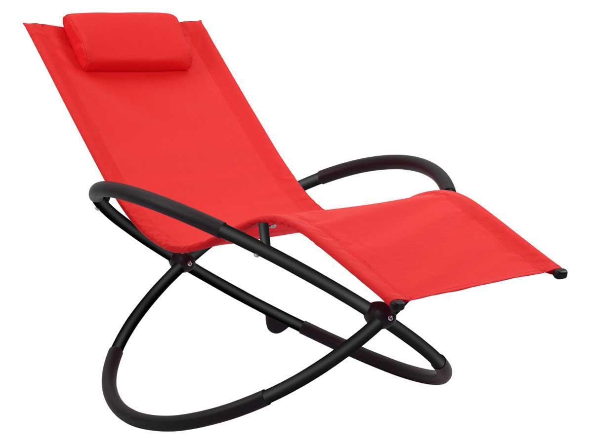 bain de soleil bascule en aluminium lina phoenix rouge 58662. Black Bedroom Furniture Sets. Home Design Ideas
