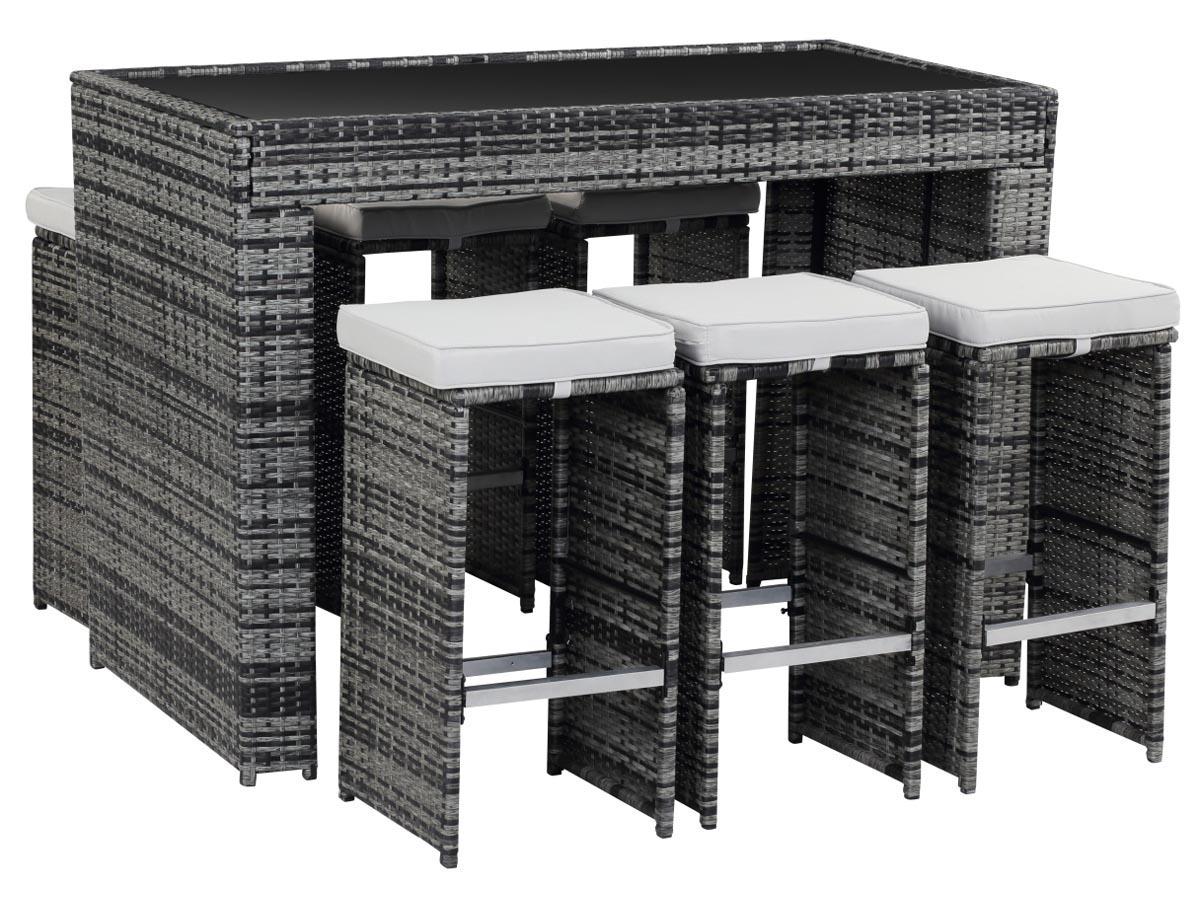 bar de jardin en r sine tress e milan florida gris 86721. Black Bedroom Furniture Sets. Home Design Ideas