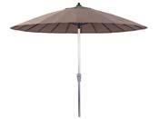 """Parasol jardin droit Alu """"Lili"""" - Style Japonais - Ø2.7m - Taupe"""