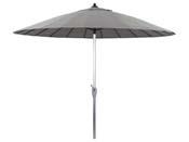 """Parasol jardin droit Alu """"Lili"""" - Style Japonais - Ø2.7m - Gris"""