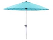 "Parasol jardin droit Alu ""Lili""- Style Japonais - Ø2.7m - Bleu"