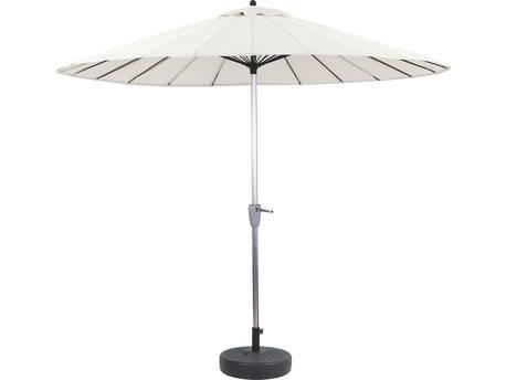 """Parasol jardin droit Alu """"Lili"""" - Style Japonais - Ø2.7m avec pied lesté"""