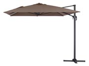 Parasol jardin déporté Alu  Sun 4  - Rectangle - 3 x 4 m - Taupe