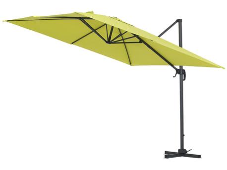"""Parasol jardin déporté Alu """"Sun 3"""" - Carré - 3 x 3 m - Vert"""