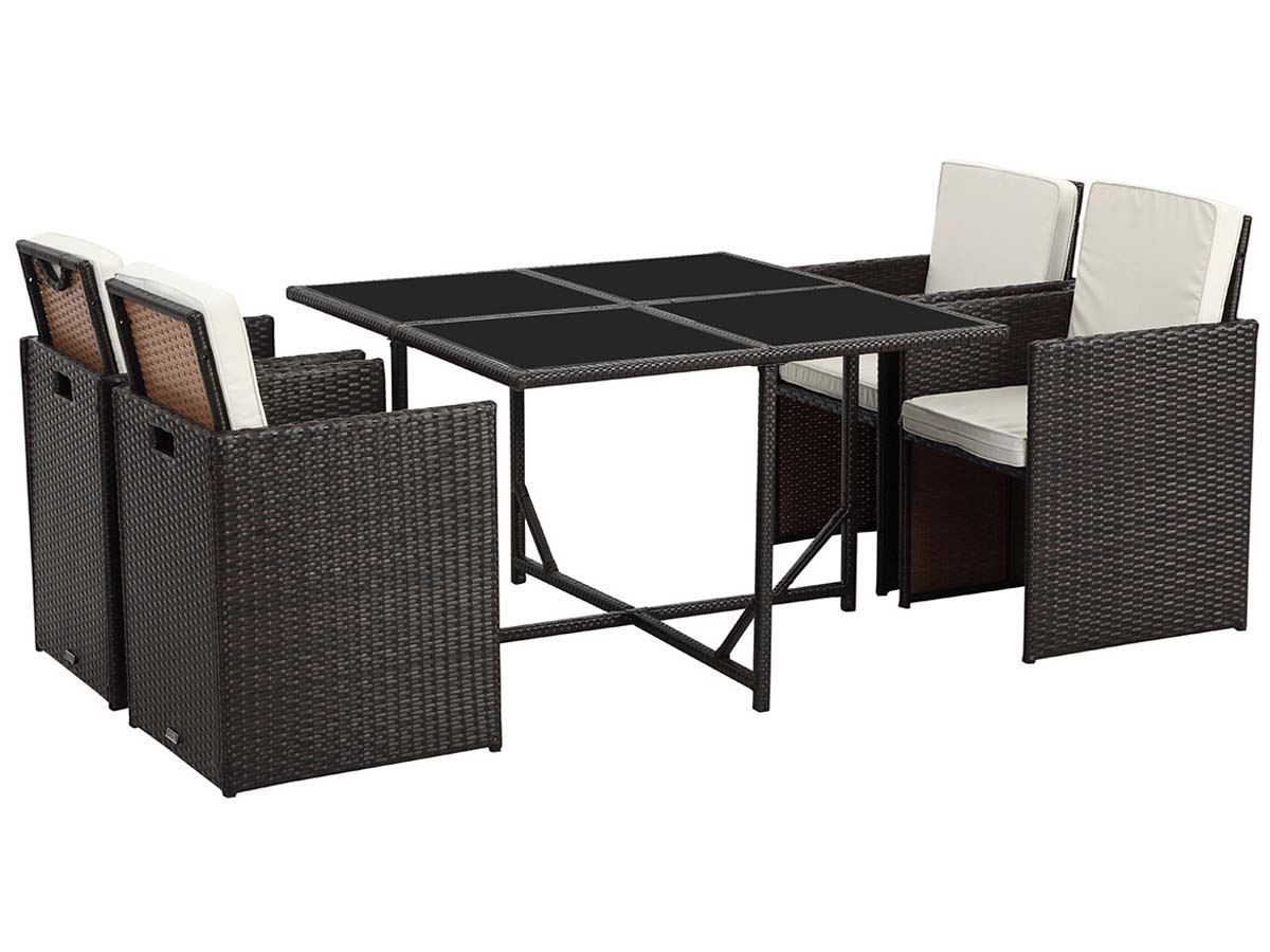 salon de jardin r sine tress e chicago 4 buffalo marron 60601. Black Bedroom Furniture Sets. Home Design Ideas
