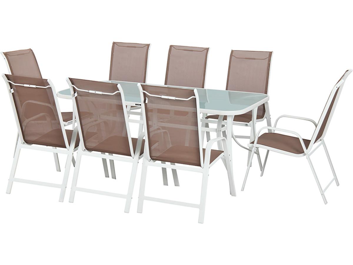 salon de jardin cordoba xl 180 phoenix taupe 79376 79383. Black Bedroom Furniture Sets. Home Design Ideas