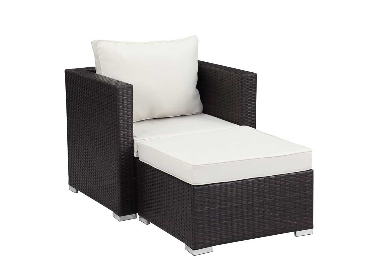 fauteuil relax de jardin en r sine tress e venus buffalo marron 59818 90199. Black Bedroom Furniture Sets. Home Design Ideas