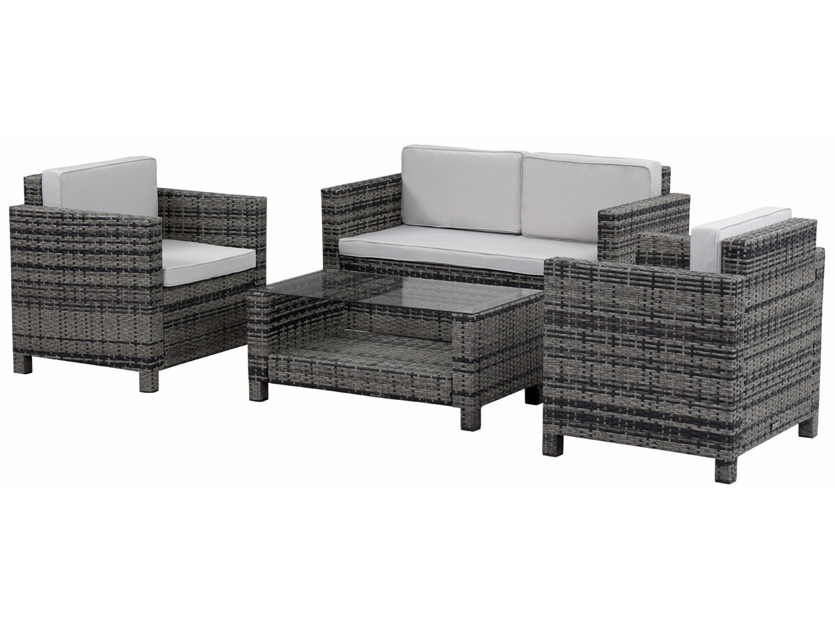 salon de jardin r sine tress e ottawa florida gris. Black Bedroom Furniture Sets. Home Design Ideas