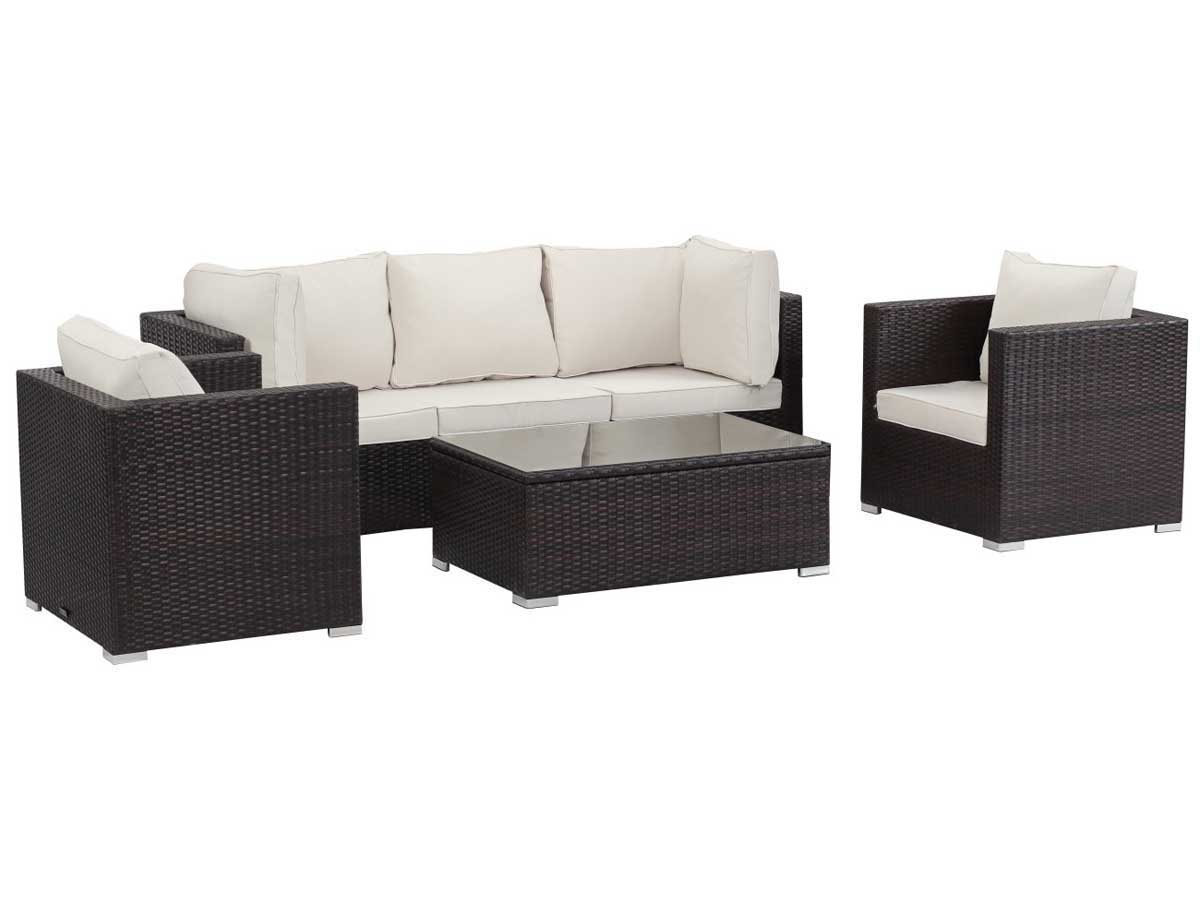 salon de jardin modulable en r sine tress e panama buffalo marron 59816. Black Bedroom Furniture Sets. Home Design Ideas