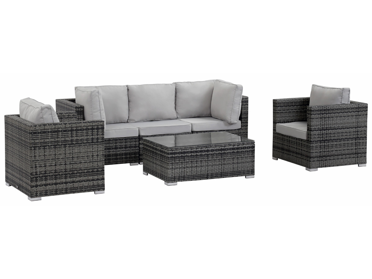 salon de jardin modulable en r sine tress e panama florida gris 59816 89191. Black Bedroom Furniture Sets. Home Design Ideas