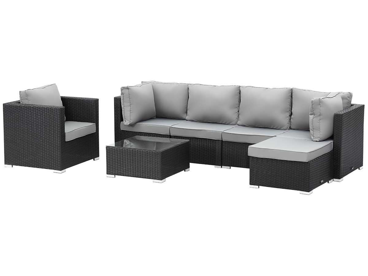 emejing salon de jardin bas atlanta en resine tressee. Black Bedroom Furniture Sets. Home Design Ideas