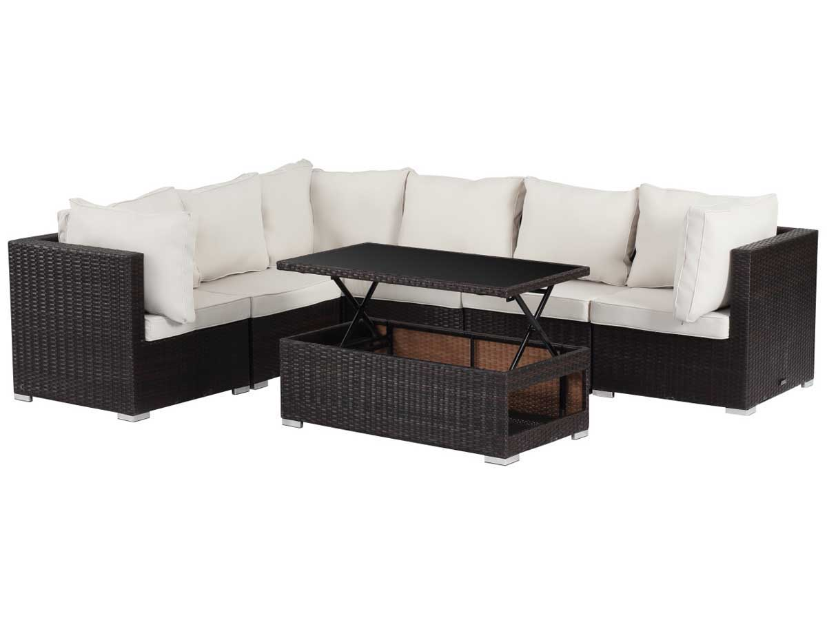 salon de jardin modulable en r sine tress e auckland luxe buffalo table basse relevable. Black Bedroom Furniture Sets. Home Design Ideas