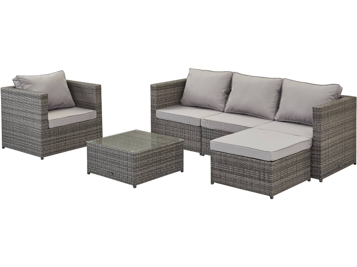 salon de jardin en r sine tress e ibiza premium florida gris 93731. Black Bedroom Furniture Sets. Home Design Ideas