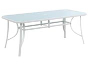 "Table de jardin ""Cordoba"" - Phoenix - 8 places - Blanc"