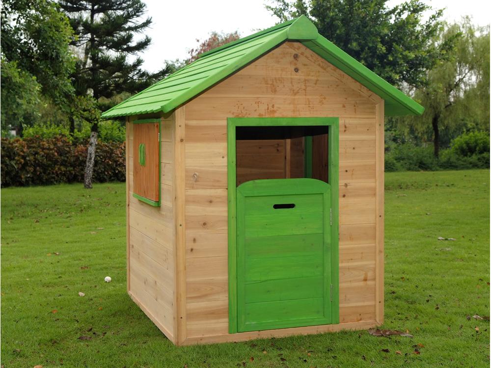 Cabane de jardin en bois lola x x m 60007 - Construire cabane jardin ...