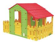 """Cabane enfant ferme """"Fun"""" avec jardinet - 185 x 118 x 127 cm"""