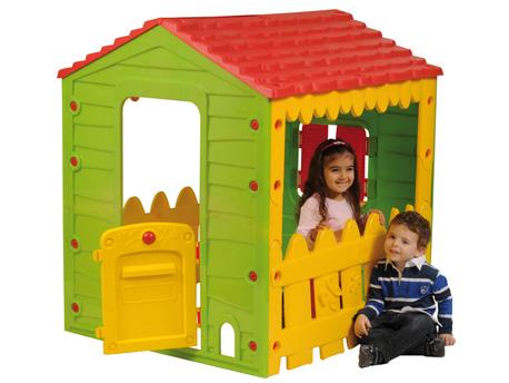 Cabane enfant ferme avec porte and volets - 106 x 118 x 127 cm