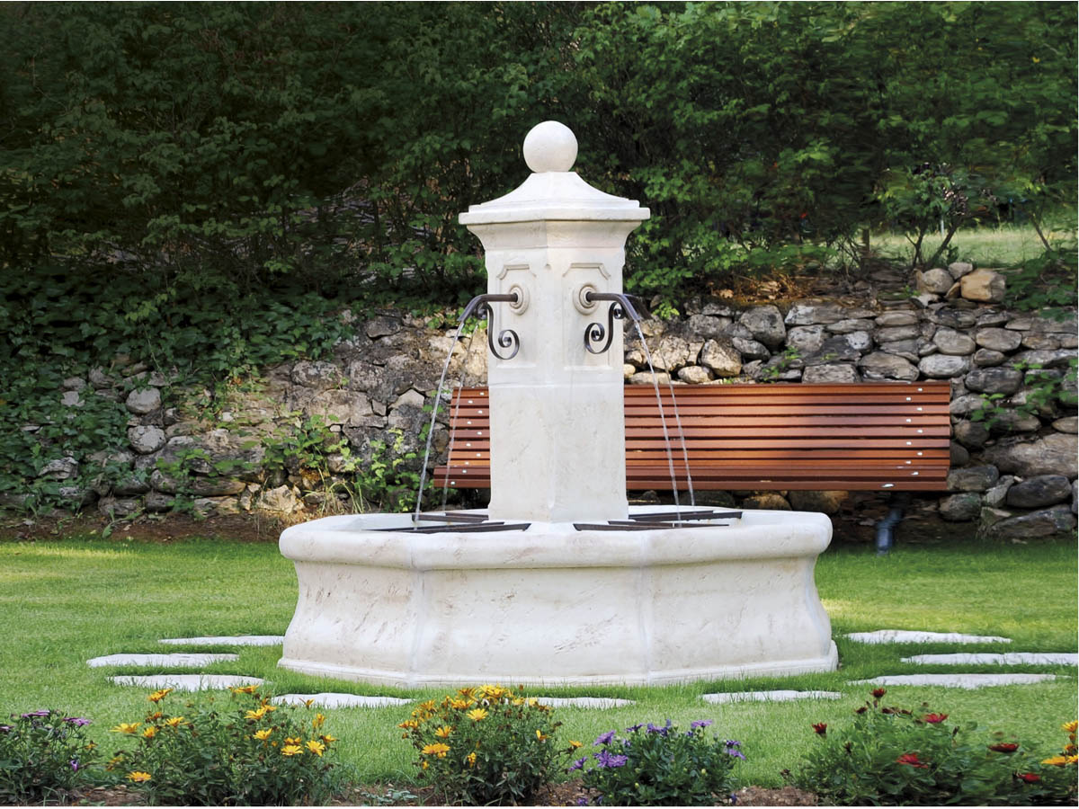 Fontaine vincennes x 60057 for Pierre blanche decoration jardin