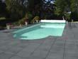 """Lot de 40 margelles """"Vendée"""" droites - 60 x 33 x 3 cm + 4 margelles angle de piscine 48 x 48 x 3 cm - Ton Gris"""
