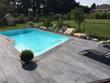 Lot de 40 Margelles droites 60 x 33 cm + 4 margelles angle de piscine 45 x 45 cm - Aspect bois - Ton Gris