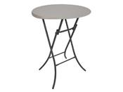 Table pliante mange-debout - Ø 84 cm - Hauteur 110 cm