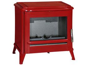po le bois en fonte modena emaill rouge 18605. Black Bedroom Furniture Sets. Home Design Ideas