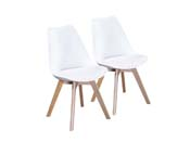 "Lot de 2 chaises ""Emmy"" - Blanc"